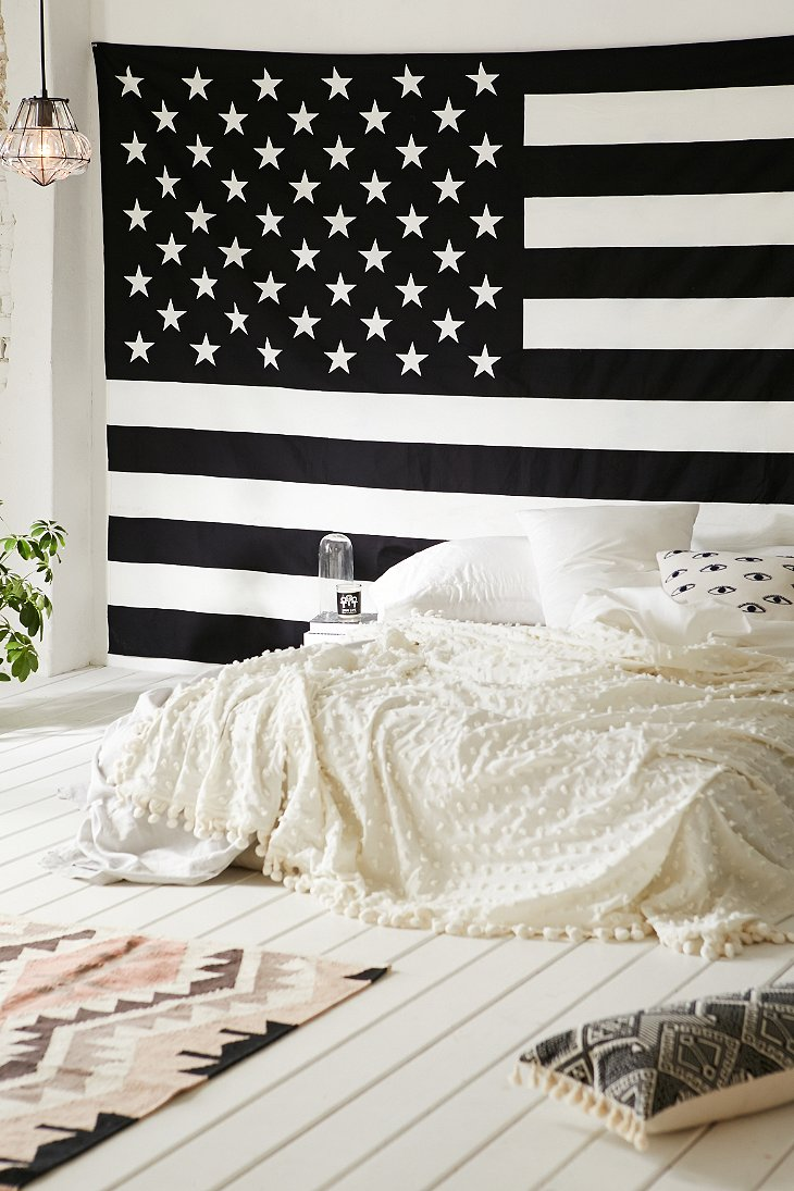 American flag tapestry urban outfitters for American flag bedroom ideas