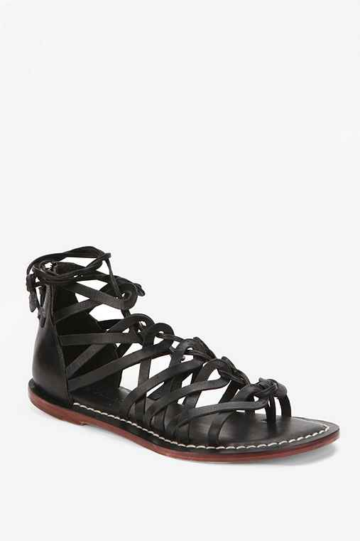 Bernardo Maddy Caged Lace-Up Sandal