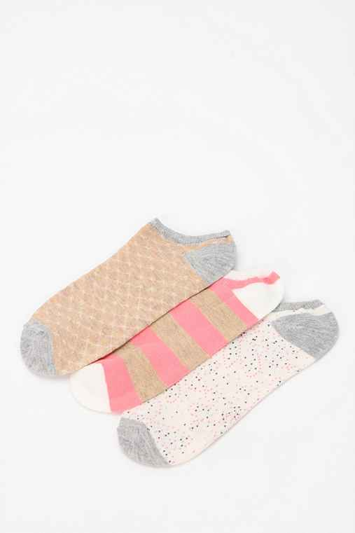 Pin Dot No-Show Sock - Pack Of 3
