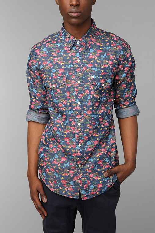 Salt Valley Smoky Floral Western Shirt Urban Outfitters