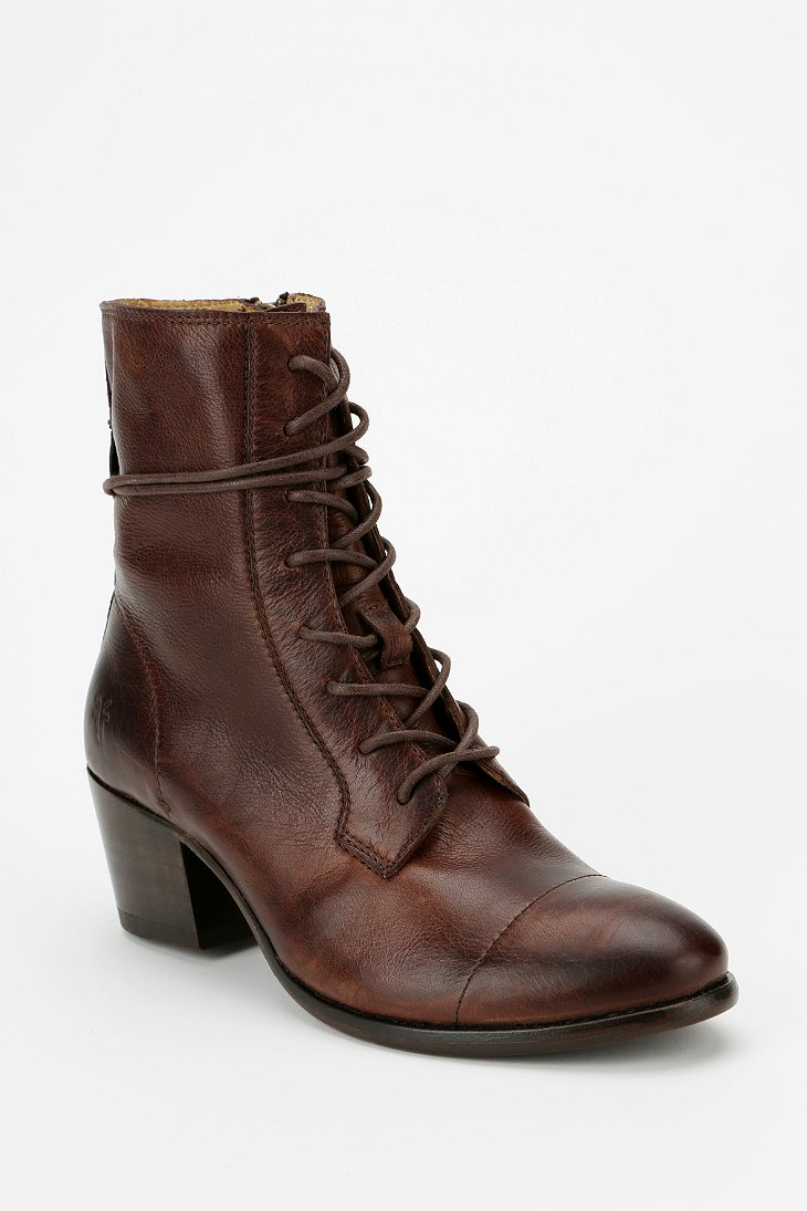 Lastest Frye Women39s Burnished Dakota Wedge Lace Up Boot  Dark Brown
