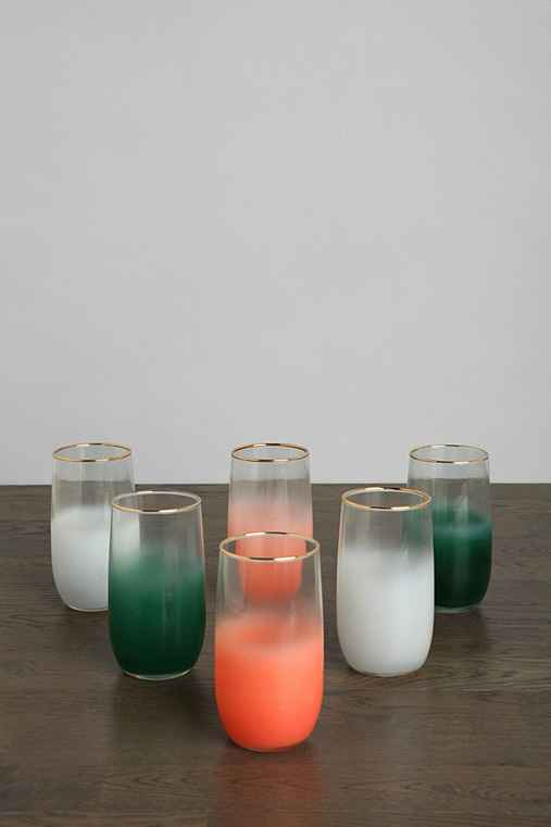 Vintage Frosted Glass - Set of 6