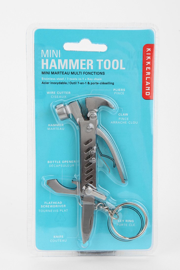 mini hammer tool keychain urban outfitters. Black Bedroom Furniture Sets. Home Design Ideas