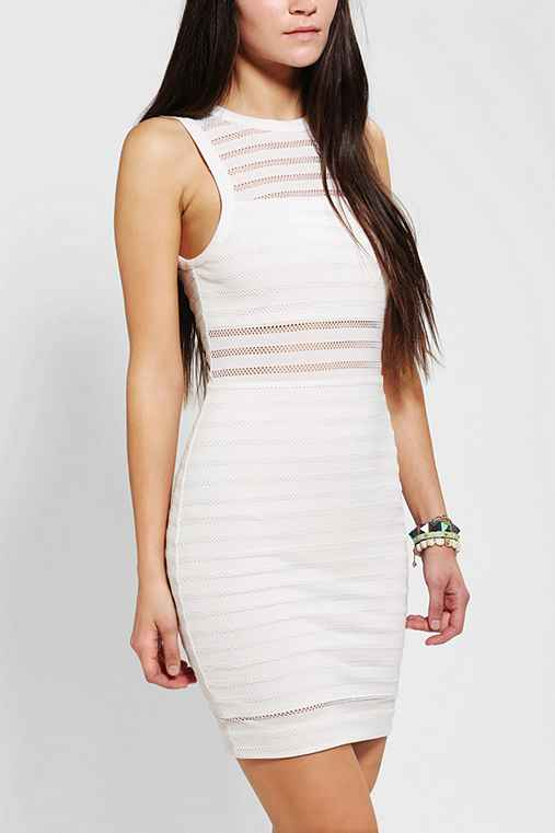 Silence + Noise Illusion Stripe Bodycon Dress