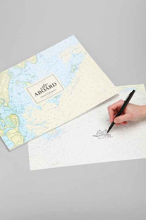 All Aboard Map Paper Placemat Set