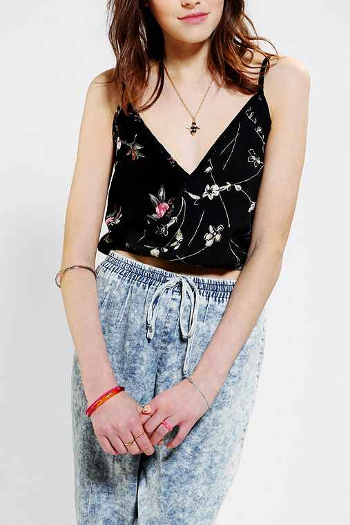Urban Renewal Cropped Surplice Tank Top
