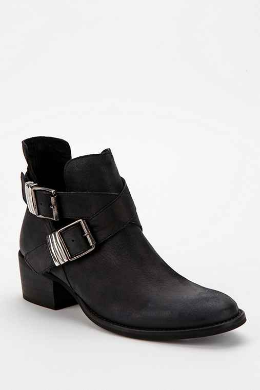Steve Madden Double-Buckle Cutout Ankle Boot