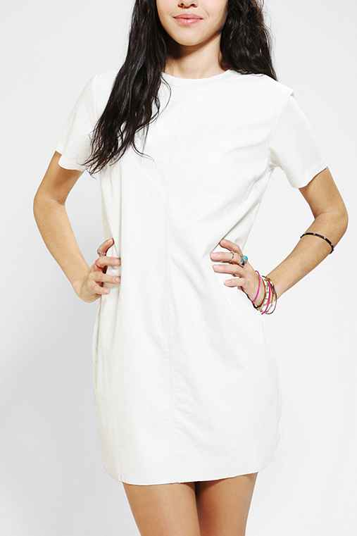 Lucca Couture Faux Leather T-Shirt Dress