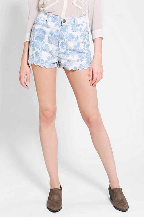 Pins And Needles High-Rise Scallop Short