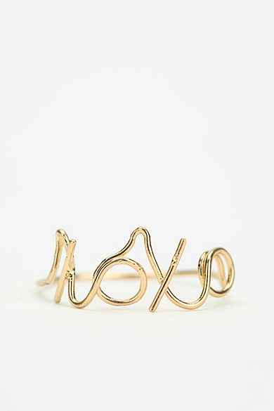 Asos Gold Plated  Etched Rings