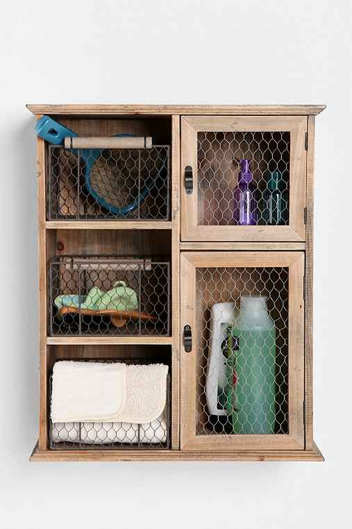 Reclaimed Wood Storage Unit
