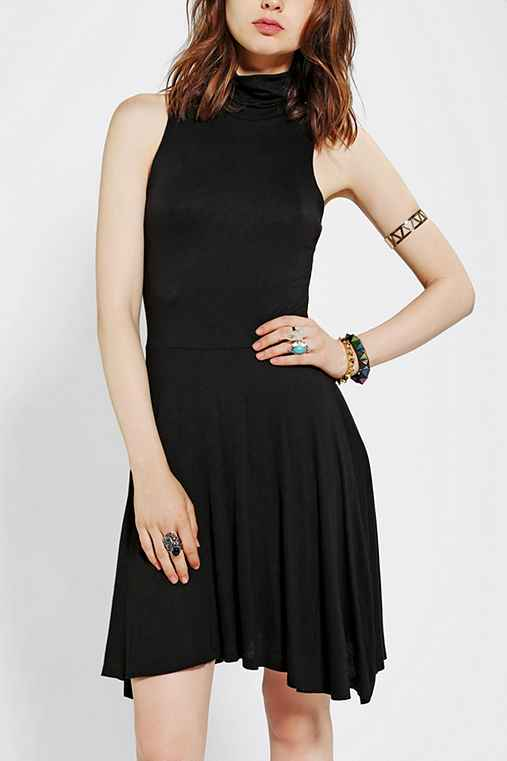 Sparkle & Fade Knit Turtleneck Skater Dress
