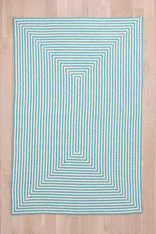 Indoor/Outdoor Square Grid Rug