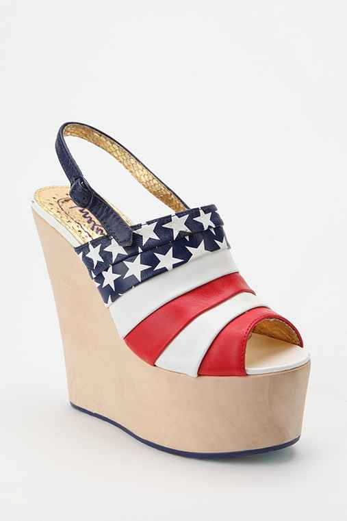 Irregular Choice Flag Platform Wedge