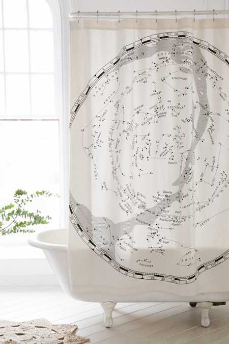 Magical Thinking Constellation Map Shower Curtain