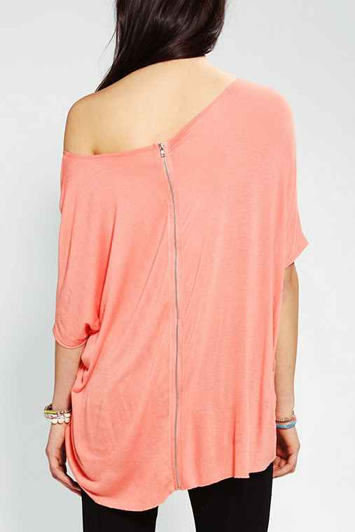 Silence + Noise Oversized Zip-Back Tee