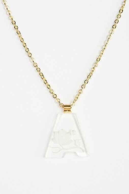 Diament jewelry for urban renewal acrylic letter necklace for Acrylic letter necklace