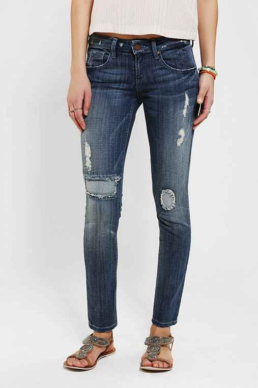 SOLD Design Lab Soho Patched Skinny Jean