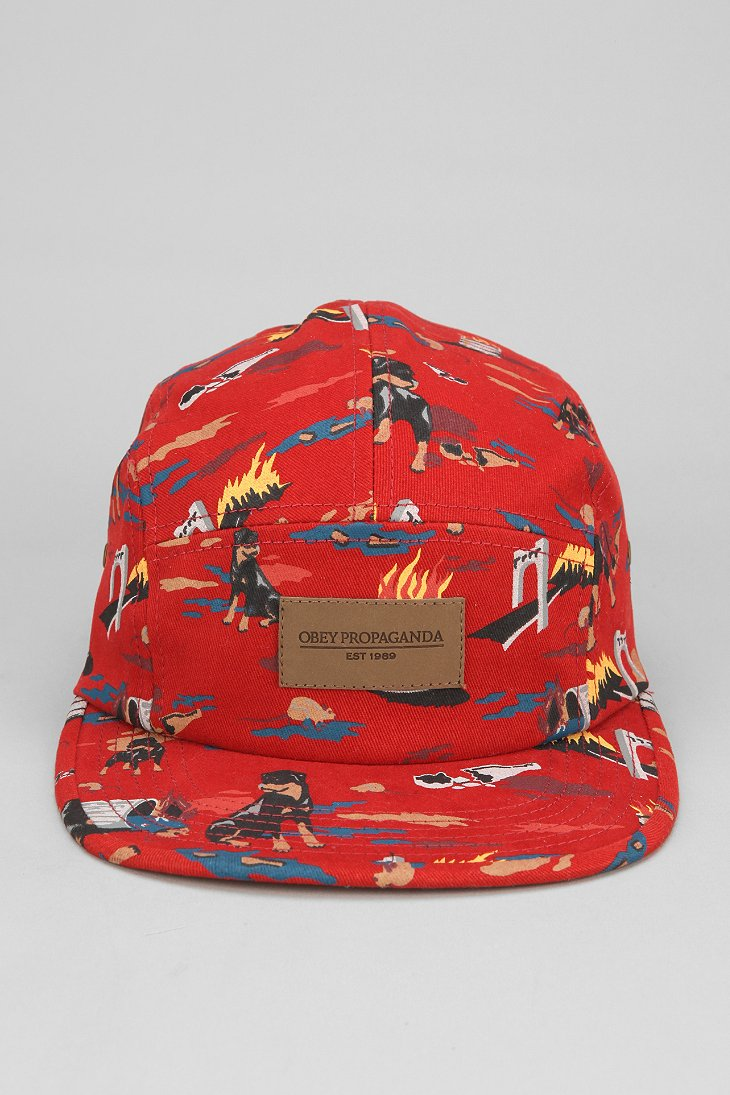 ade71f312e6ed OBEY City Hunting 5 Panel Hat on PopScreen