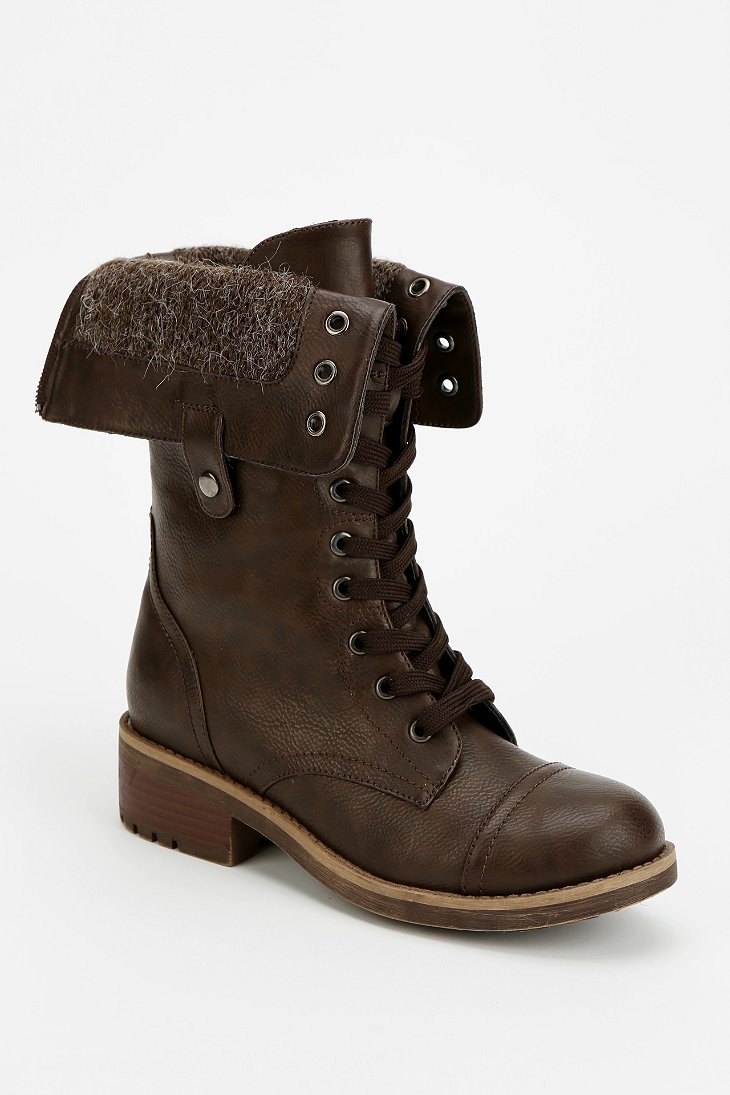 Wanted Recruit Fold-Over Combat Boot - Urban Outfitters