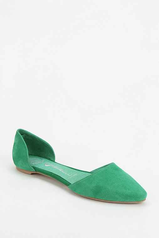 Jeffrey Campbell In Love Suede D'Orsay Flat