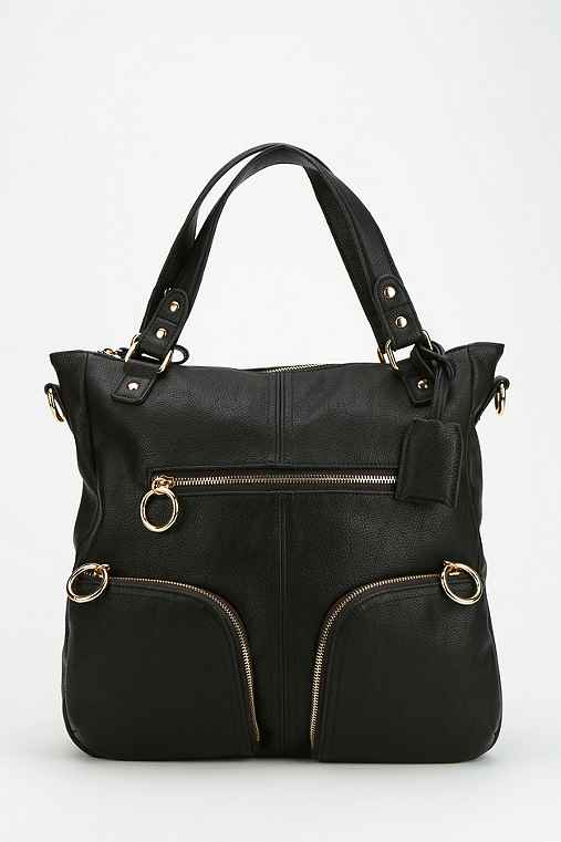 Deena & Ozzy Hey You Vegan Leather Tote Bag