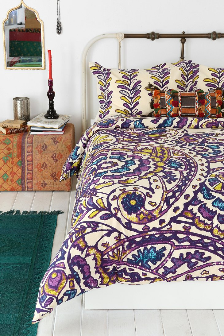 magical thinking paisley sketchbook duvet cover urban. Black Bedroom Furniture Sets. Home Design Ideas