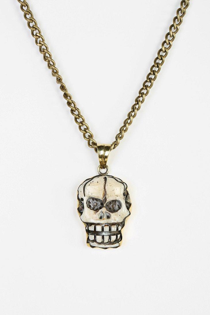 natalie b jewelry skull necklace