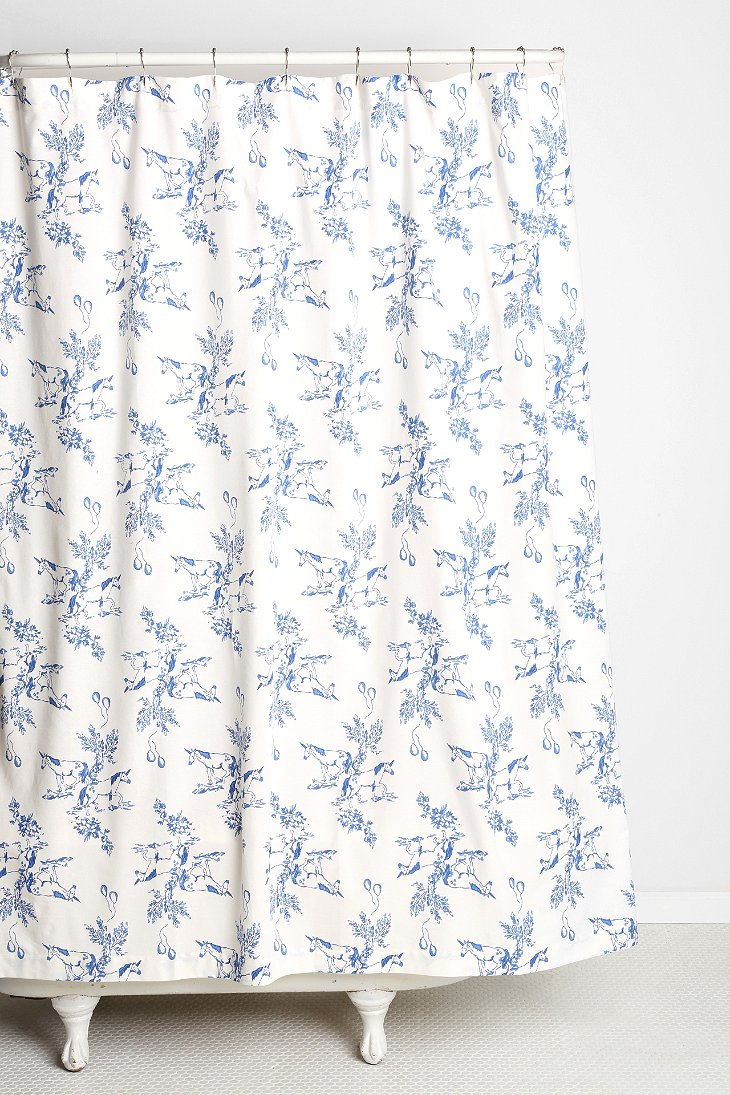 Plum Bow Unicorn Shower Curtain Urban Outfitters