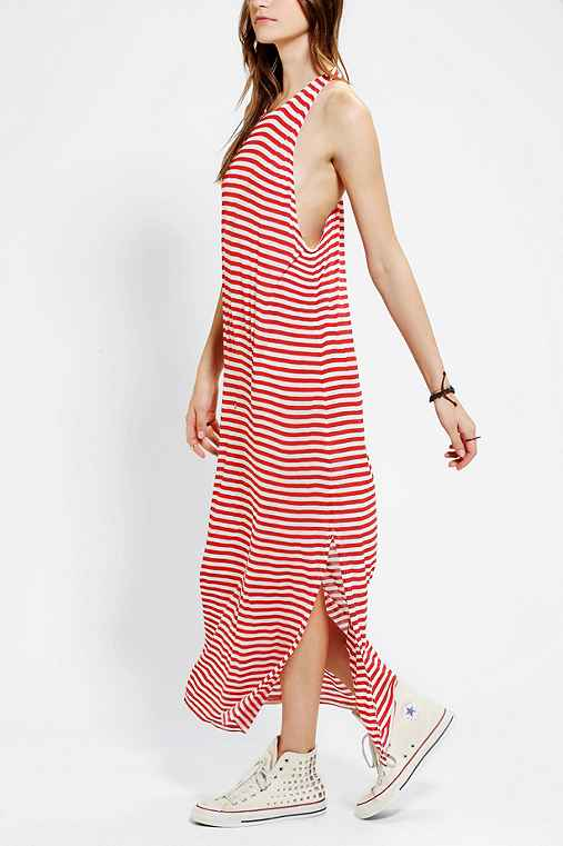 Neon Moon Knit Stripe Maxi Dress
