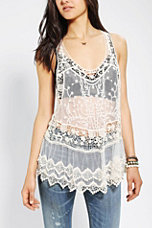 Pins And Needles Lace Racerback Tank Top