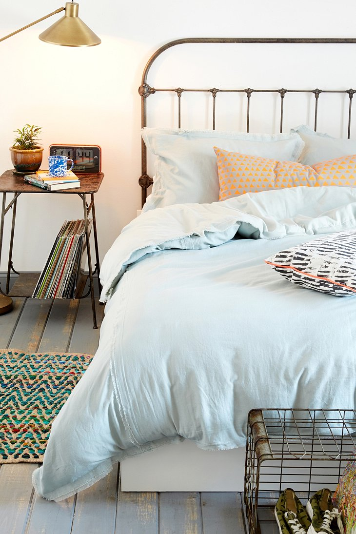 4040 Locust Frayed Edge Duvet Cover Urban Outfitters