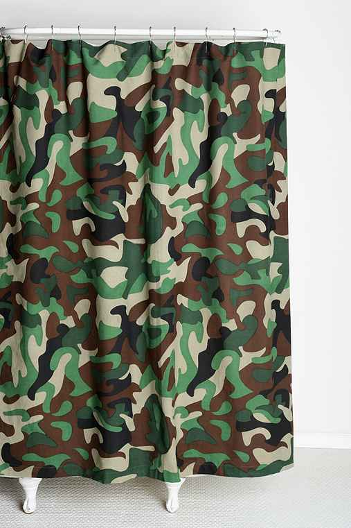 Camo Shower Curtain Urban Outfitters
