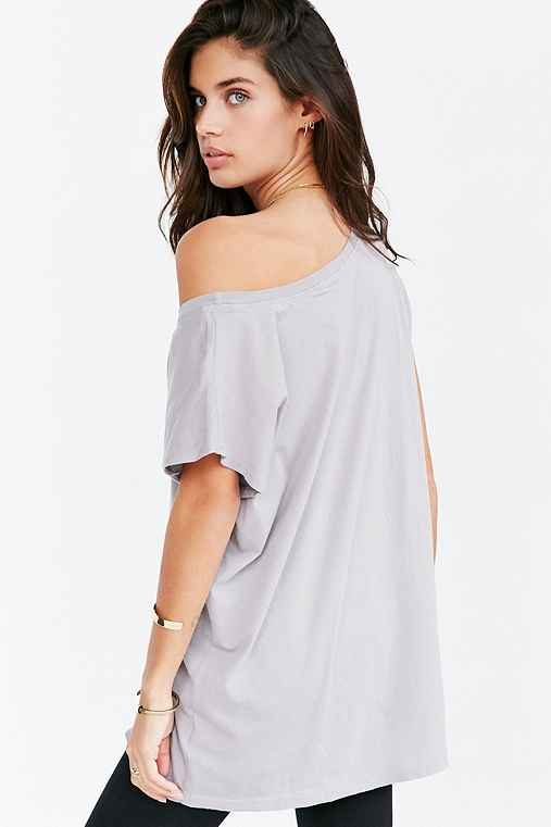 Truly Madly Deeply Off-The-Shoulder Tee,GREY,XS