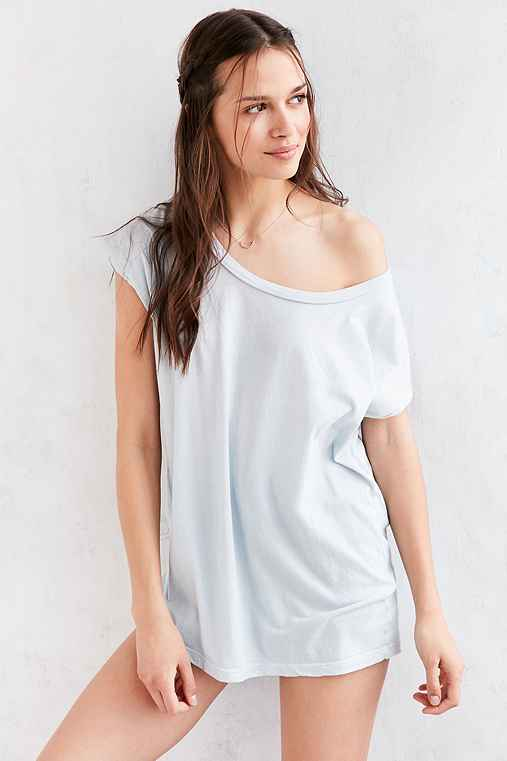 Truly Madly Deeply Off-The-Shoulder Tee,BLUE,XS