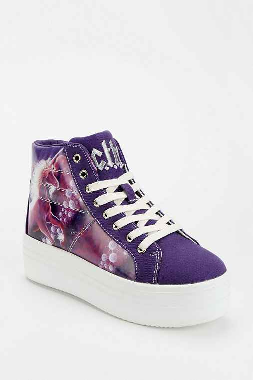Cute To The Core Monster Unicorn High-Top Flatform-Sneaker