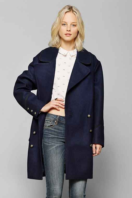 BB Dakota Boxy Double-Breasted Peacoat