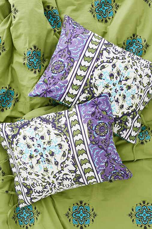 Magical Thinking Boho-Stripe Sham Set,PURPLE,ONE SIZE