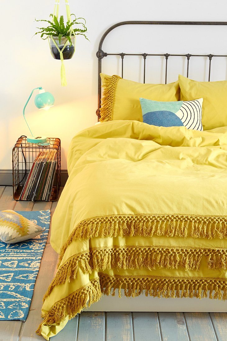 Magical thinking tassel duvet cover urban outfitters Magical thinking bedding
