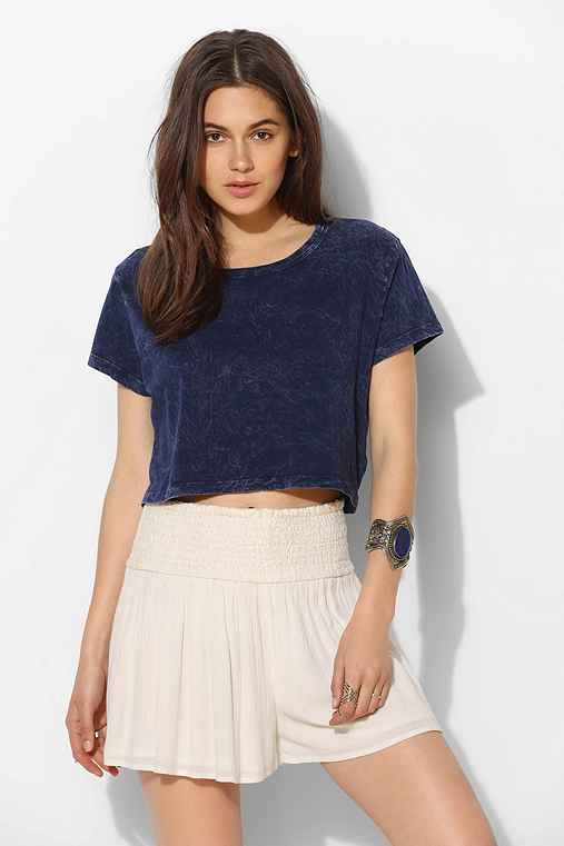 Truly Madly Deeply Cropped Mineral Wash Tee