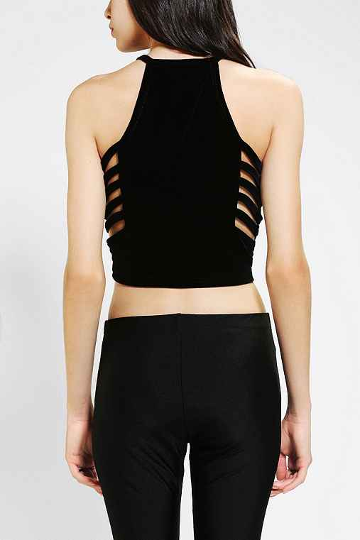 Evil Twin Night Returns Velvet Cropped Top