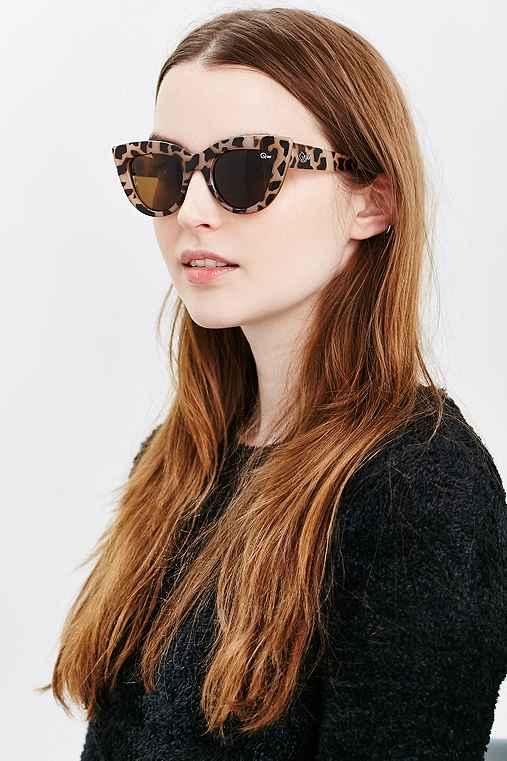 Quay Kittie Cat-Eye Sunglasses,TAUPE,ONE SIZE