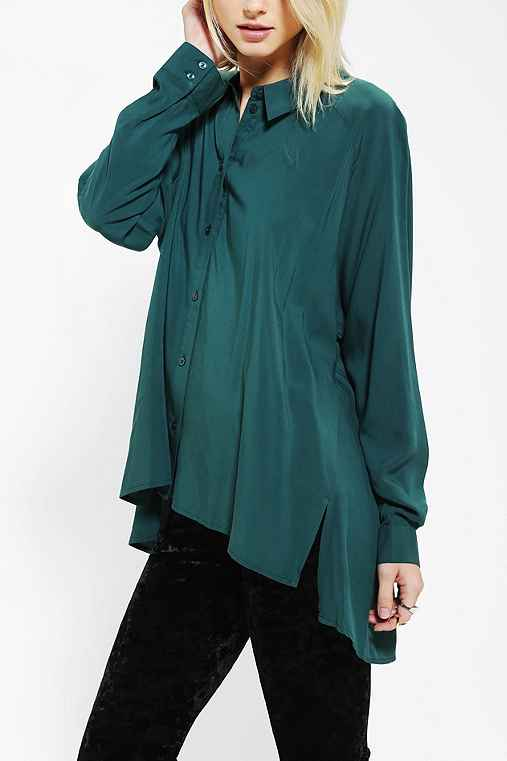 Staring At Stars Gathered-Back Button-Down Tunic