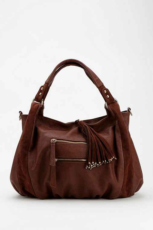 Ecote Tasseled Vegan Leather Hobo Bag