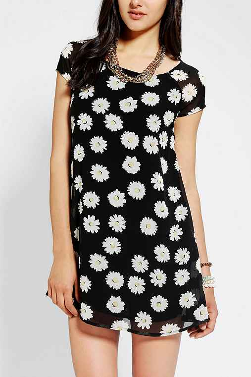 Lucca Couture Daisy-Print Chiffon Dress