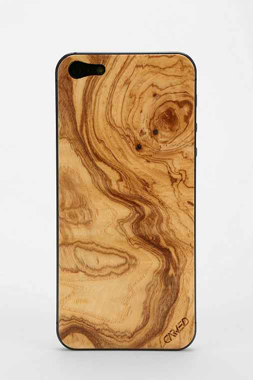 Carved Wood iPhone 5/5s Back-Skin
