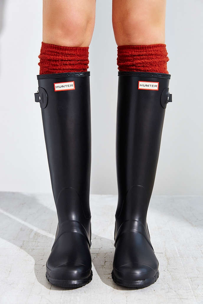 Black Tall Rain Boots - Cr Boot