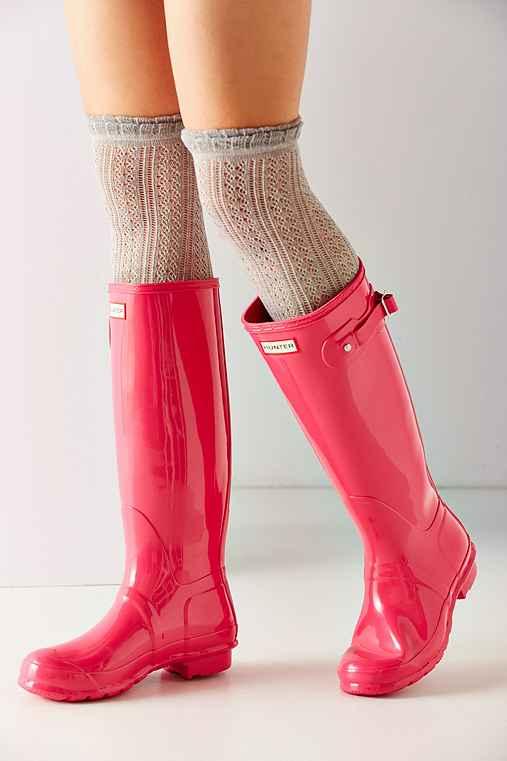 Hunter Original Gloss Rain Boot,PINK,8