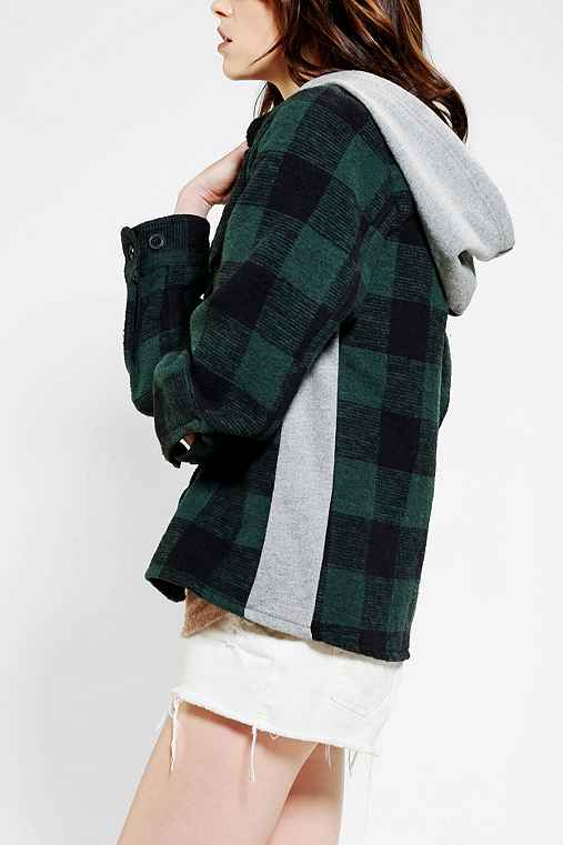 SNAP X Urban Renewal Hooded Flannel Shirt