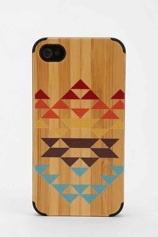 Painted Wood iPhone 4/4s Case
